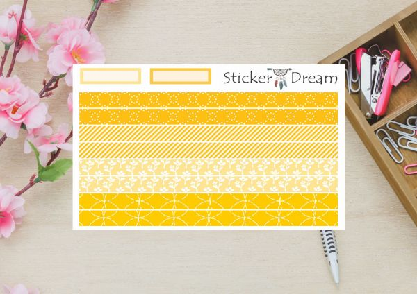 Sticker Dream - Washi Strip Yellow