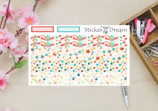 Sticker Dream - Washi Strip Confete
