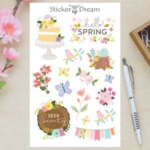 Sticker Dream - Cartela Hello Spring