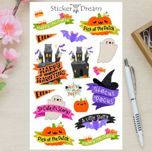 Sticker Dream - Cartela Happy Halloween