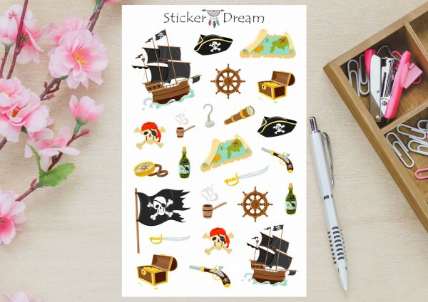 Sticker Dream - Cartela Piratas