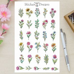 Sticker Dream - Cartela Flores do Campo