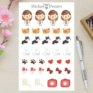 Sticker Dream - Cartela Veterinária