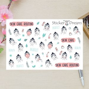 Sticker Dream - Cartela Super Skin Care Routine