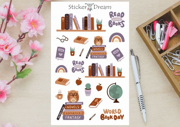 Sticker Dream - Cartela Read More Books