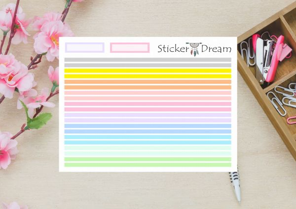 Sticker Dream - Washi Strip Listrinhas Pastel