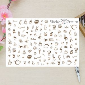 Sticker Dream - Cartela Super I Love Coffe