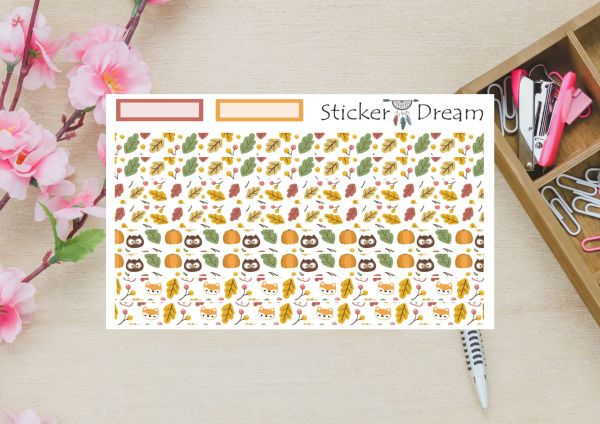 Sticker Dream - Whasi Strip Folhas de Outono