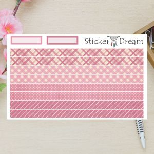 Sticker Dream - Washi Strip Festa Pink