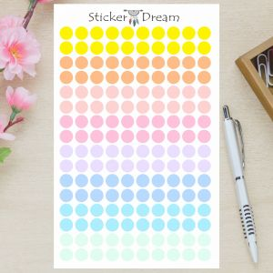 Sticker Dream - Cartela Bolinhas Pastel
