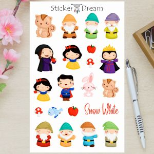 Sticker Dream - Cartela Snow White