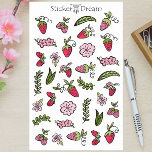 Sticker Dream - Cartela Moranguinho