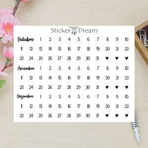 Sticker Dream - Cartela Super Meses 10 a 12