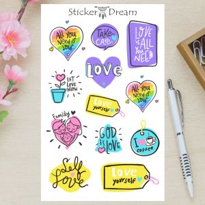 Sticker Dream - Cartela All You Need is Love