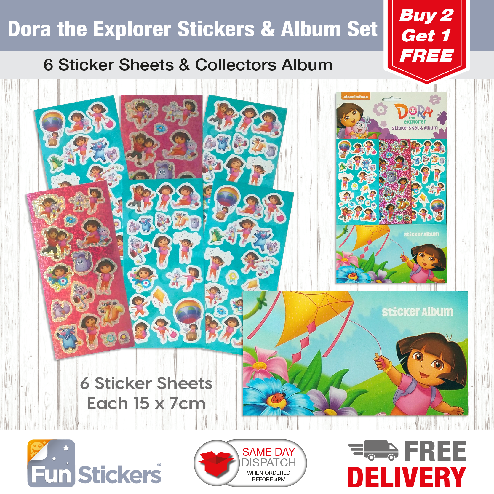 Dora The Explorer Sticker Album 6 Sheets