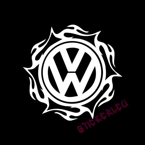 Стикер Volkswagen емблема 4 2
