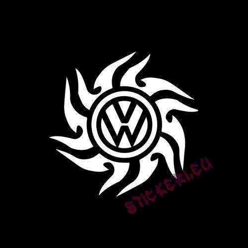 Стикер Volkswagen емблема 2