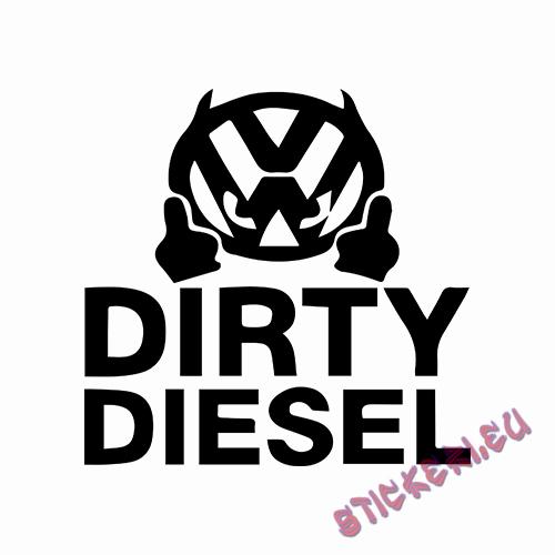 Стикери VW DIRTY DIESEL - 1 - Stickeri.eu