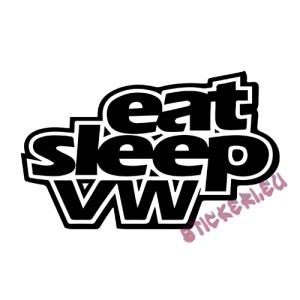 Стикер Eat Sleep VW 2 1