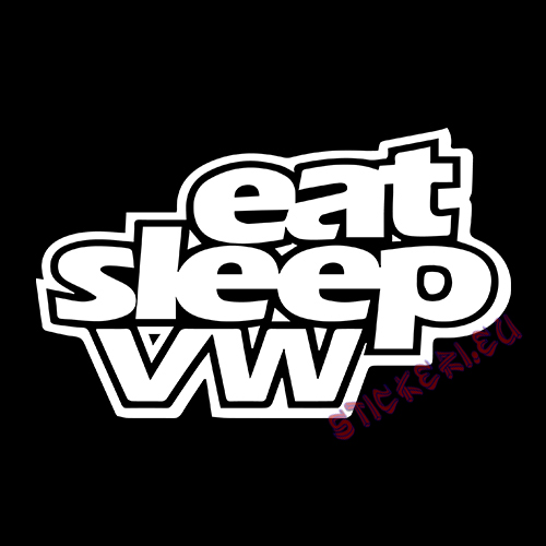 Стикер Eat Sleep VW 2 2