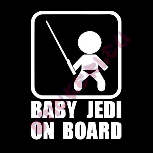 Стикер baby jedi on board - 2 - Stickeri.eu
