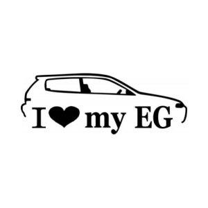 Стикер I Love my EG