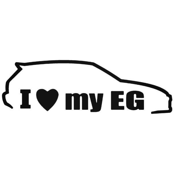 Стикер I Love my EG 2