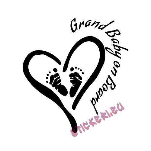 Стикер grand baby on board - 1 - Stickeri.eu