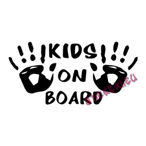 Стикер kids on board 2 - 1 - Stickeri.eu