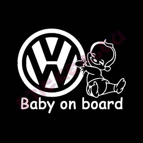 Стикер VW бебе в колата 2