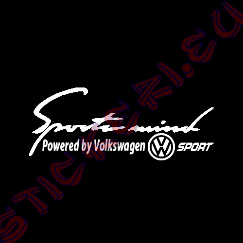 Стикер за кола Sports mind Volkswagen Sport Black