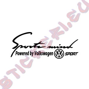 Стикер за кола Sports mind Volkswagen Sport
