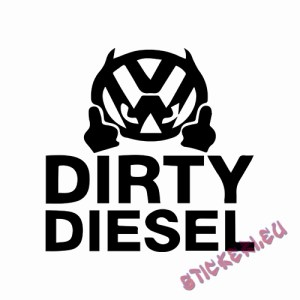 Стикери VW DIRTY DIESEL - 1 - Stickeri.eu
