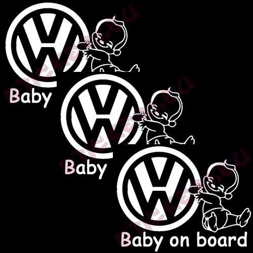 Стикери VW бебе в колата 2