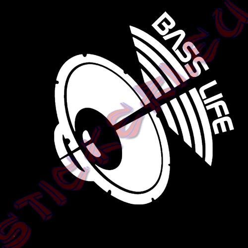 Стикер Bass Life Black