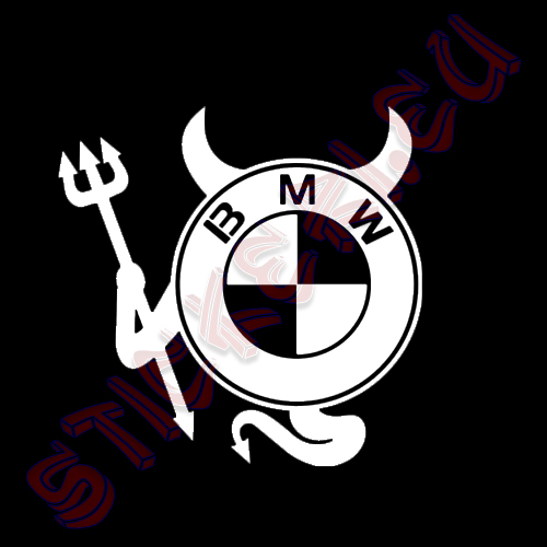 Стикер за кола Devil BMW Black
