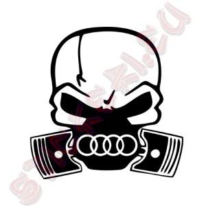 Стикер Audi череп
