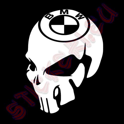 Стикер череп BMW 2