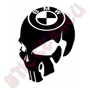Стикер череп BMW