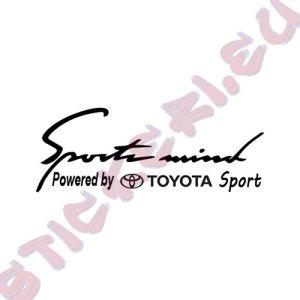 Стикер за кола Sports Mind Toyota Sport