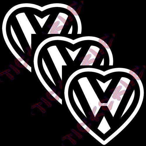 Стикери VW сърце 2