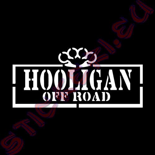 Стикер Off Road Hooligan бял