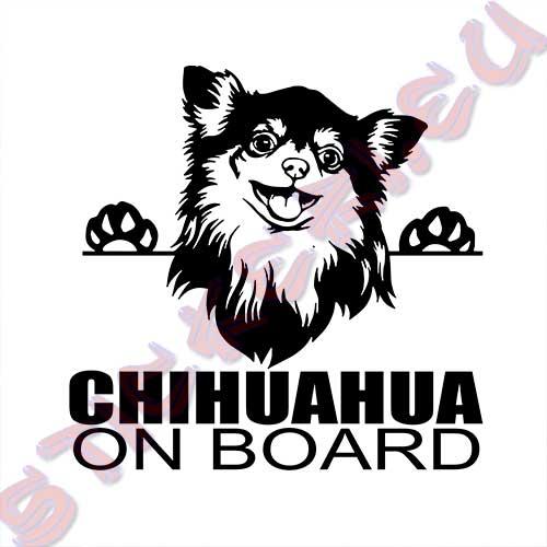 Стикер Chihuahua on board 2