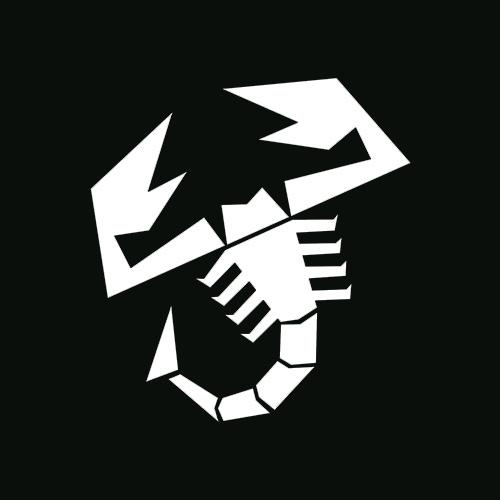 Стикер Скорпион Abarth бял