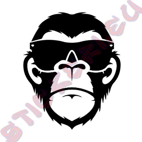 Стикер Маймуна със слънчеви очила