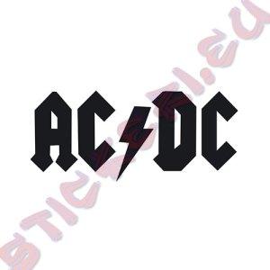 Стикер за кола AC DC