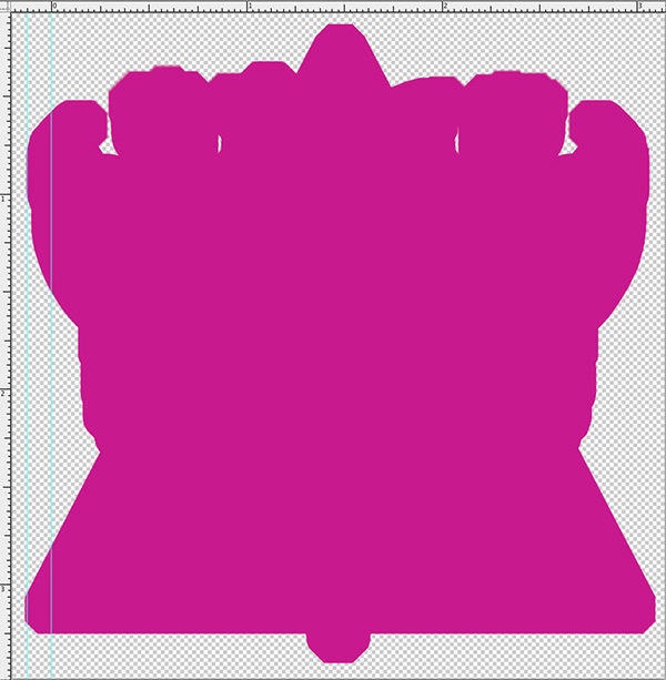 Rough shape for the diecut sticker