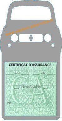 Stickers porte vignette assurance auto Renault 4L rétro couleur grise
