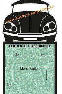 Etui pochette assurance vignette auto Citroën DS