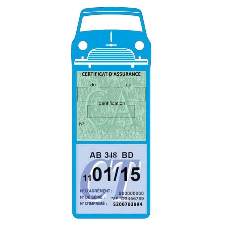 Mini Cooper Austin 1000 vignette assurance voiture bleu clair